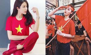 Mỹ nhân Việt diện áo cờ đỏ, sao vàng vẫn mix sành điệu như thường