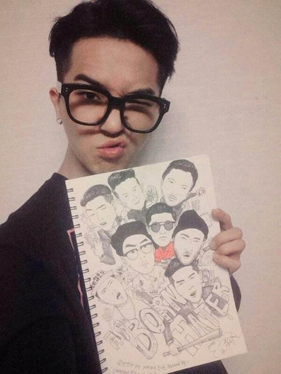 10 idol Kpop có tài hội họa khiến fan trầm trồ - 2
