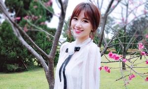 Hari Won khoe vẻ đẹp mong manh khi lưu diễn ở Đài Loan