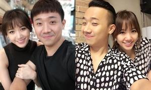 Trấn Thành - Hari Won chăm chỉ selfie khoe 'tướng phu thê'