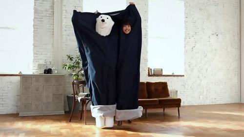 Túi ngủ cực độc hình quần jean khổng lồ không dành cho dân FA - 1