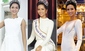 Hoa hậu H'Hen Niê đóng khung hình ảnh sau 1 tháng đăng quang