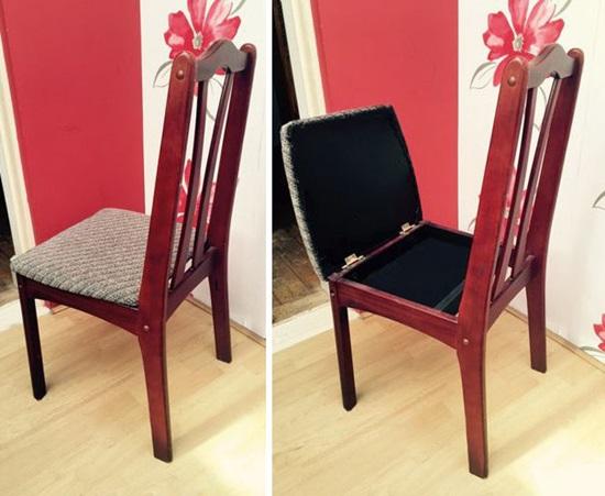 Ngăn đựng đồ nho nhỏ dưới đệm ghế ngồi.