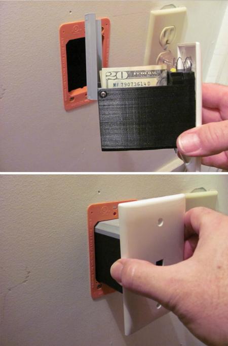 Ổ điện cũng có thể cất ví tiền này.