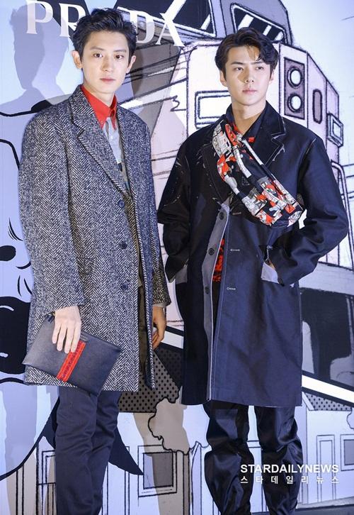 2 ngôi sao là những thành viên cao nhất EXO, có hình thể như siêu mẫu.