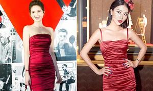 Ngọc Trinh 'xù lông' khi bị nghi mặc váy nhái Quỳnh Anh Shyn