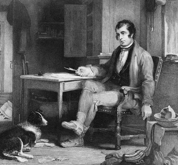 Chân dung đại thi hào Scotland, Robert Burns, tác giả phần lời ca khúc Auld Lang Syne.