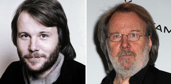 Benny Andersson xưa và nay.
