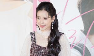 Chi Pu xinh đẹp hút truyền thông khi ra mắt phim tại Hàn Quốc