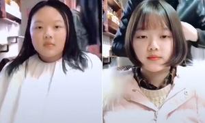 Clip chứng minh con gái không ai mặt to, chỉ có người chưa làm tóc phù hợp