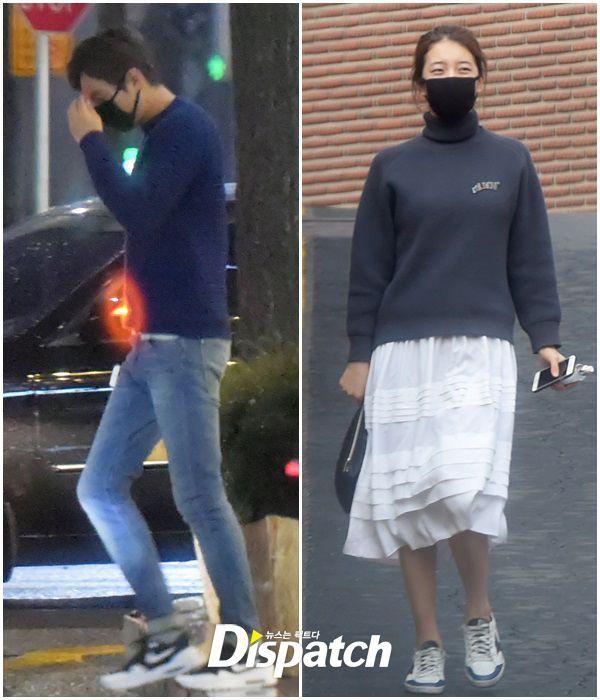 Suzy và Lee Min Ho bị Dispatch bắt gặp hẹn hò.