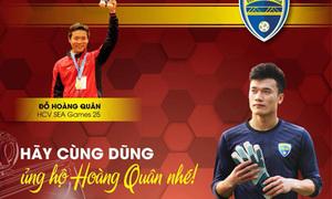 Bùi Tiến Dũng đấu giá găng tay ủng hộ nhà vô địch SEA Games bị ung thư