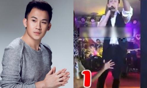 Dương Triệu Vũ bức xúc vì bị sàm sỡ khi đang biểu diễn.