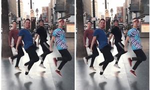 4 chàng soái Tây gây bão với điệu nhảy lò cò
