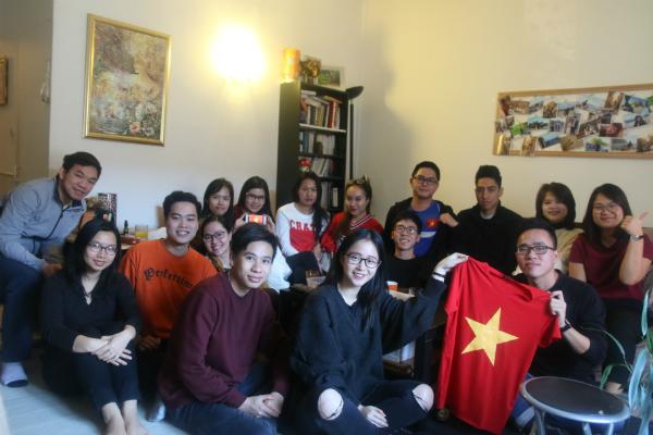 Các du học sinh Việt tại thành phố Angers