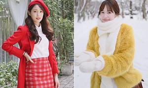 3 gợi ý mix đồ đông giúp da thêm trắng sáng từ hot girl số 1 Thái Lan