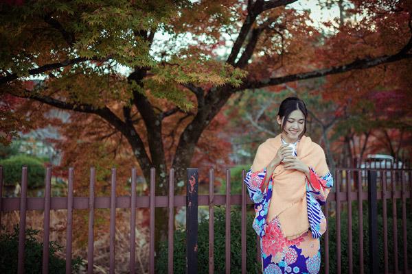 Á hậu cao nhất Việt Nam đẹp mong manh trong trang phục truyền thống Nhật Bản - 7