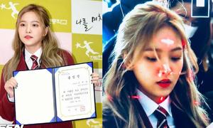 Yeri (Red Velvet) bị chiếu đèn laser vào mặt tại lễ tốt nghiệp