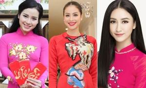 Chân dài, hoa hậu và loạt sao Việt hot chúc Tết độc giả iOne