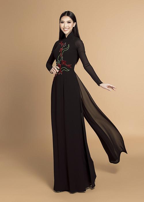 Tường Linh đẹp dịu dàng với áo dài đón Tết - 5