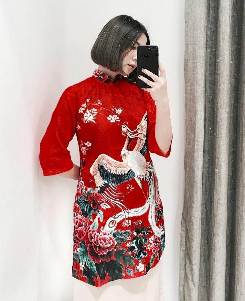 Áo dài đón Tết từ xinh yêu đến sang chảnh của hot girl Việt - 1