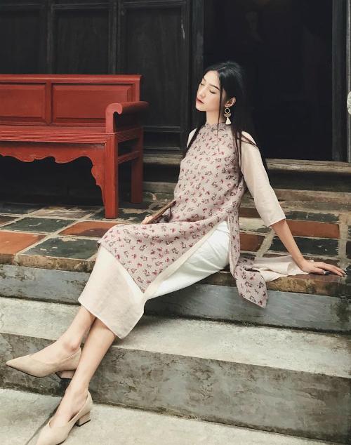 Áo dài đón Tết từ xinh yêu đến sang chảnh của hot girl Việt - 2