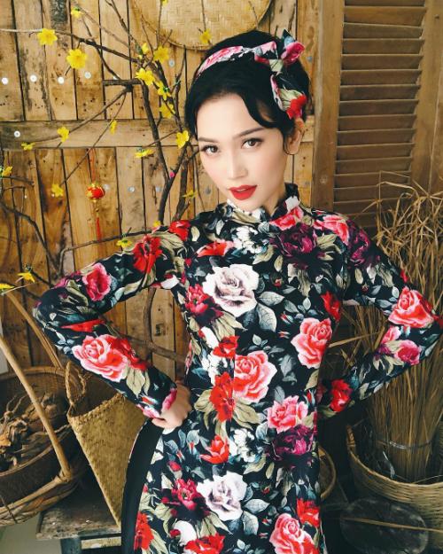 Áo dài đón Tết từ xinh yêu đến sang chảnh của hot girl Việt - 5