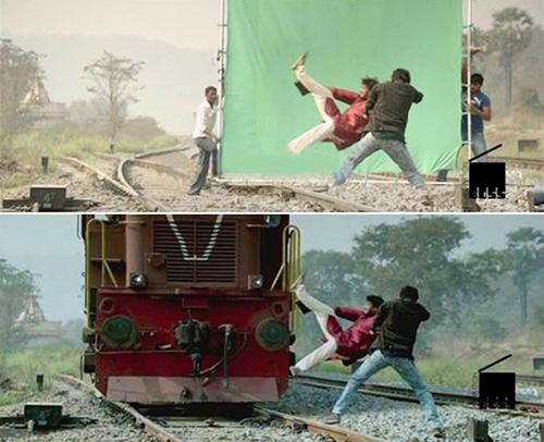 Những cảnh phim Ấn Độ ảo diệu đến khó tin trước và sau khi dùng kỹ xảo - 7
