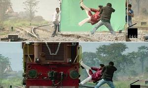 Những cảnh phim Ấn Độ 'ảo diệu' khó tin trước và sau khi dùng kỹ xảo