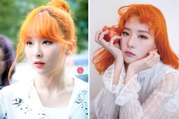 Dàn idol không phải nắng vẫn chói chang nhờ màu tóc cam rực - 2