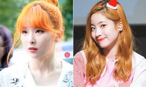 Dàn idol 'không phải nắng vẫn chói chang' nhờ màu tóc cam rực