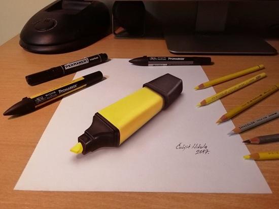 Chiếc búthighlight màu vàng thật đến mức khiến bạn dễ nhầm lẫn khi nhìn.