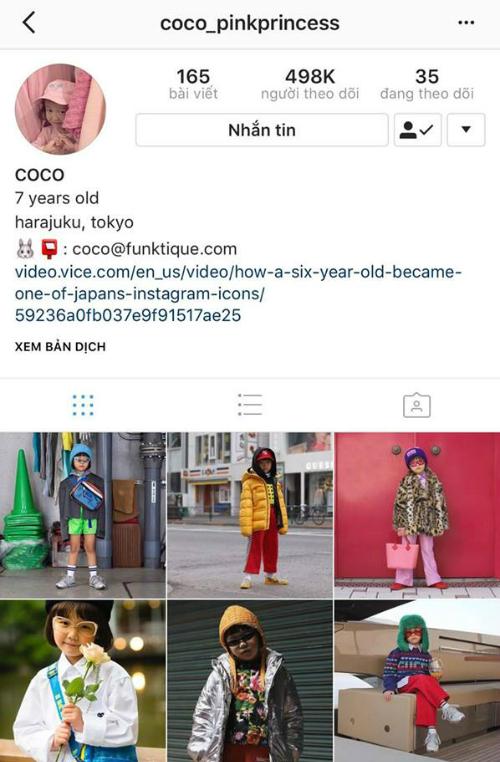 Coco sở hữu tài khoản instagram với lượng người theo dõikhủng