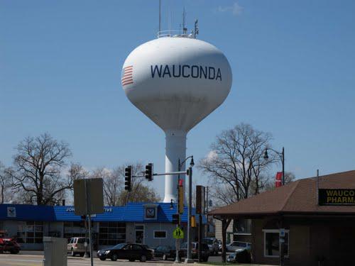 Còn đây là thành phố Wauconda ở ngoài đời.
