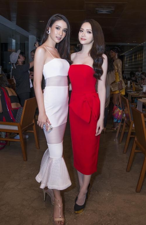Hương Giang đọ sắc vóc với Hoa hậu chuyển giới Thái Lan - 4