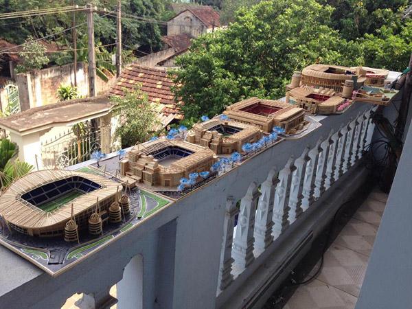 Bộ sưu tập mô hình sân vận động giống y bản gốc của 9x Việt