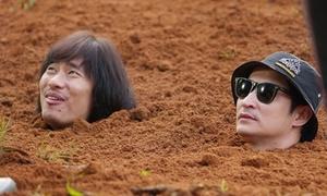 Huy Khánh - Kiều Minh Tuấn chật vật đóng cảnh bị chôn sống trong 'Lật mặt 3'