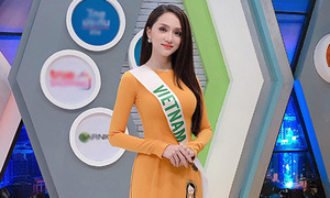 Hương Giang diện áo dài nổi bật ghi hình cho truyền hình Thái