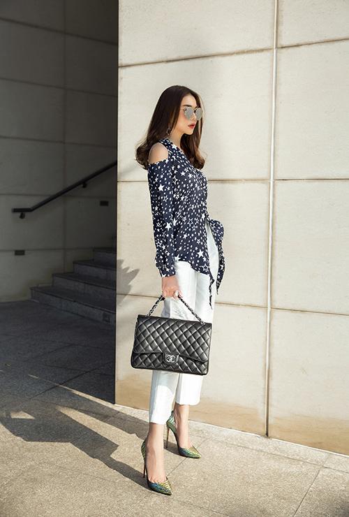 Thanh Hằng xuống phố với váy áo sành điệu - 4
