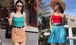 Quỳnh Anh Shyn mặc đẹp quanh năm chỉ nhờ một lố áo hai dây đủ màu