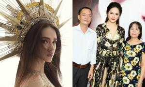 Bố mẹ Hương Giang sang tận Thái Lan để ủng hộ con gái thi Hoa hậu chuyển giới