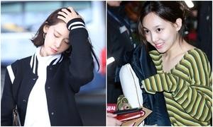 Yoon Ah, Twice khoe style khỏe khoắn, năng động ở sân bay