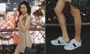 Hòa Minzy 'chơi' hơn cả G-Dragon, giẫm gót giày 20 triệu không thương tiếc