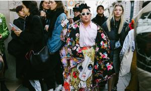 Nàng fashionista ngoại cỡ gây ấn tượng tại Fashion Week