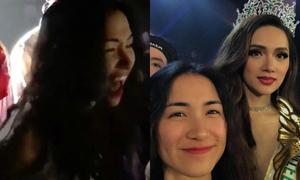 Biểu cảm như 'nuốt trọn thế giới' của Hòa Minzy khi Hương Giang trở thành hoa hậu