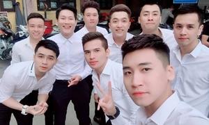Dàn 'soái ca' sơ mi trắng bê tráp tại đám hỏi của Khắc Việt