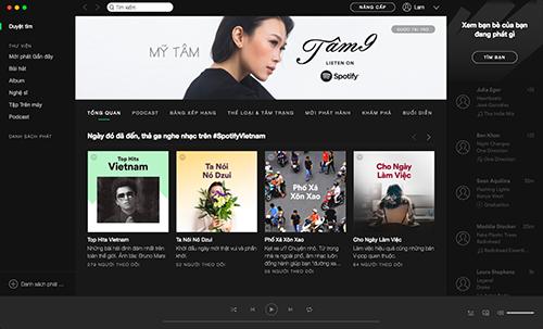 Giao diện thị trường Việt Nam cung cấp các bài hát có bản quyền trong nước và toàn thế giới. ]