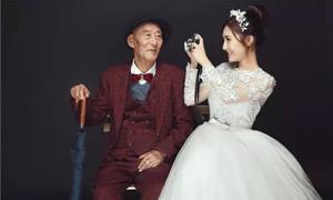 Câu chuyện cảm động sau bộ ảnh cưới của thiếu nữ 9x và ông nội