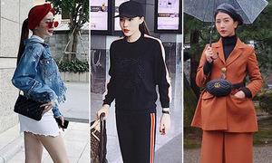 Street style long lanh ngày giao mùa của sao, hot girl Việt