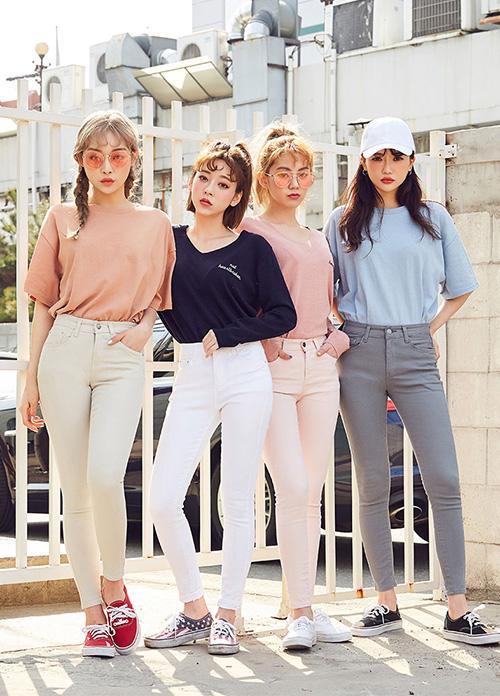 Kiểu quần đặc biệt giúp con gái Hàn ai cũng chân thon dài - 4